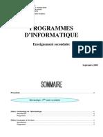 Programme Officiel Injgpifo 2 3 4 Secondaire