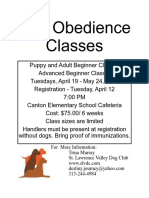 Spring 2016 Obedience Flyer