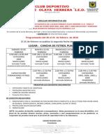 Circular001 Pruebas Club Deportivo