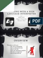 working with a sign language interpreter presentation