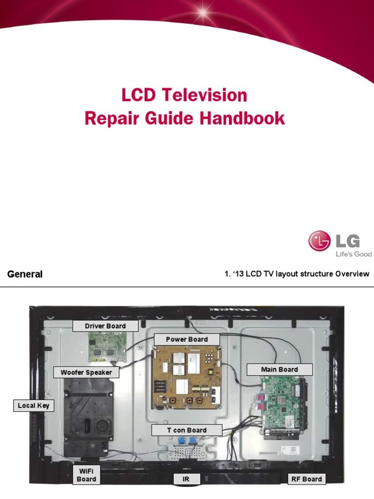 tv circuit board diagram repair lcd tv repair guide handbook 140211 v1 thin film transistor  lcd tv repair guide handbook 140211 v1