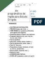 ED Ingles 6 Ano Tarde Prof Ana Maria Basilio (1)