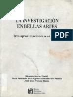 La Investigación en Bellas Artes.