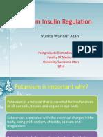 Regulation Potassium & insulin