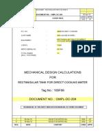 Rectangular Tank_Design Exel