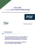 CSCE626 Amato LN PerformanceAnalysisMethodology