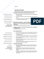 anthony doucette resume