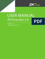 ZKTime.net3.0 Software User Manual V1.0