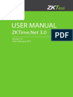ZKTime.net3.0 Software User Manual V1.0