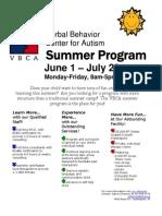 VBCA Summer Program 2010