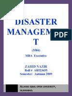 Semester III Assgn I Disaster Management