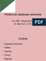 Relational Database Elements(1)