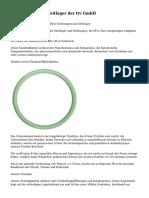 Dichtungen und Gleitlager der ttv GmbH
