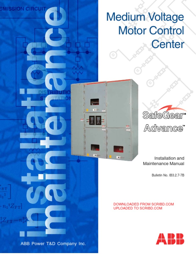 DOWN UP Abb Mcc Method Statement | Electrical Substation