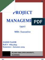 Semester III Assgn I Project Management