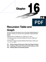 Chapter 16 Recursion Table and Graph