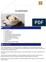 Lidl Recetas - Espaguetis a La Carbonara - 2013-02-25