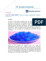 Product List and Description of SwambeChemicals