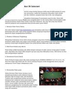 Teknik Bermain Poker Di Internet