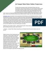 Tips Menyeleksi Web Tempat Main Poker Online Terpercaya