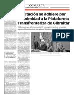 160218 La Verdad CG- Diputación Se Adhiere Por Unanimidad a La Plataforma Transfronteriza de Gibraltar p.10