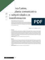 América Latina Ciudadania Comunicativa y Subjetividades en Transformación