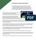 Usaha Simpel Untuk Menang Taruhan Bola Online