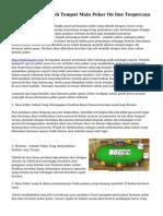 Teknik Memilih Web Tempat Main Poker On line Terpercaya