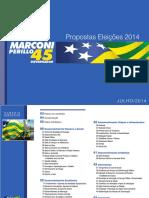 Proposta de Governo 2014 - Marconi Perillo 45 - Goiás