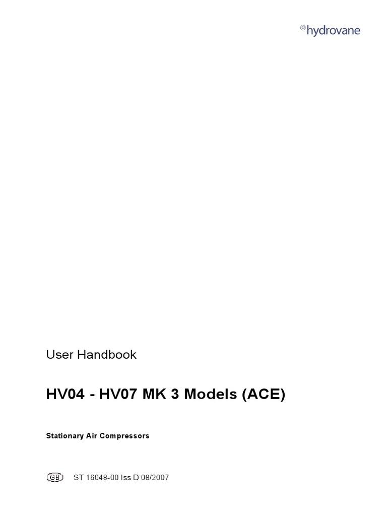 Hydrovane-HV04-05-07-англ.яз-2007-г. | Fuse (Electrical) | Gas Compressor