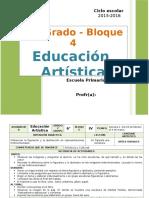 Plan 6to Grado - Bloque 4 Educación Artística (2015-2016)