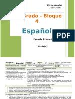 Plan 6to Grado - Bloque 4 Español (2015-2016)