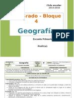Plan 6to Grado - Bloque 4 Geografía (2015-2016)