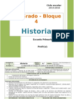 Plan 6to Grado - Bloque 4 Historia (2015-2016)