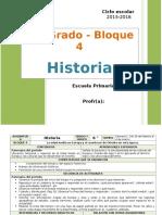 Plan 6to Grado - Bloque 4 Historia (2015-2016)