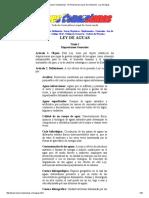 Leyes Venezolanas - El Portal de Las Leyes de Venezuela - Ley de Aguas
