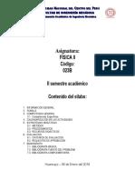 SILABO de FISICA II 2015 - III Nivelación de Wilfredo Morales Santiváñez
