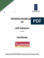 Audit de Maintenance Part1 2012-2013