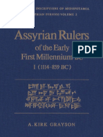A.kirk Grayson Assyrian Rulers of Early First Millenium I (1114-858)