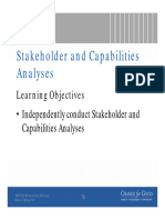 Stakeholder and Capability Analyses