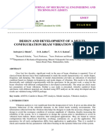 DESIGN AND DEVELOPMENT OF A MULTICONFIGURATION BEAM VIBRATION TEST SETUP