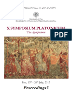 x Symposium Platonicum Proceedings 1