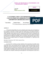 C.O.P DERIVATION AND THERMODYNAMIC CALCULATION OF AMMONIA-WATER VAPOR ABSORPTION REFRIGERATION SYSTEM