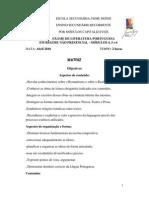 Matriz Literatura Portuguesa, Módulos 4 a 6, Abril 2010