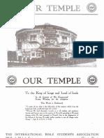 Souvenir Booklet - Temple