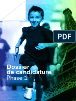 Paris 2024 - Dossier de Candidature Phase 1