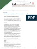 Cível - Petição Inicial de Danos Materiais e Morais - DomTotal