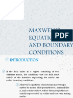 Boundary Conditions and Maxwell Equations