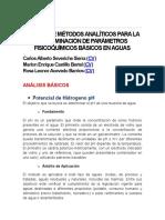 Manual de Métodos Para La Determinación de Parámetros Fisicoquímicos Básicos en Aguas