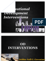 Organizational Development Interventions